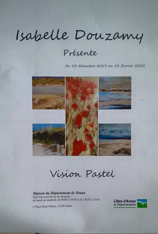 Image Exposition peintures au pastel sec par isabelle douzamy du 13 décembre 2019 au 13 février 2020