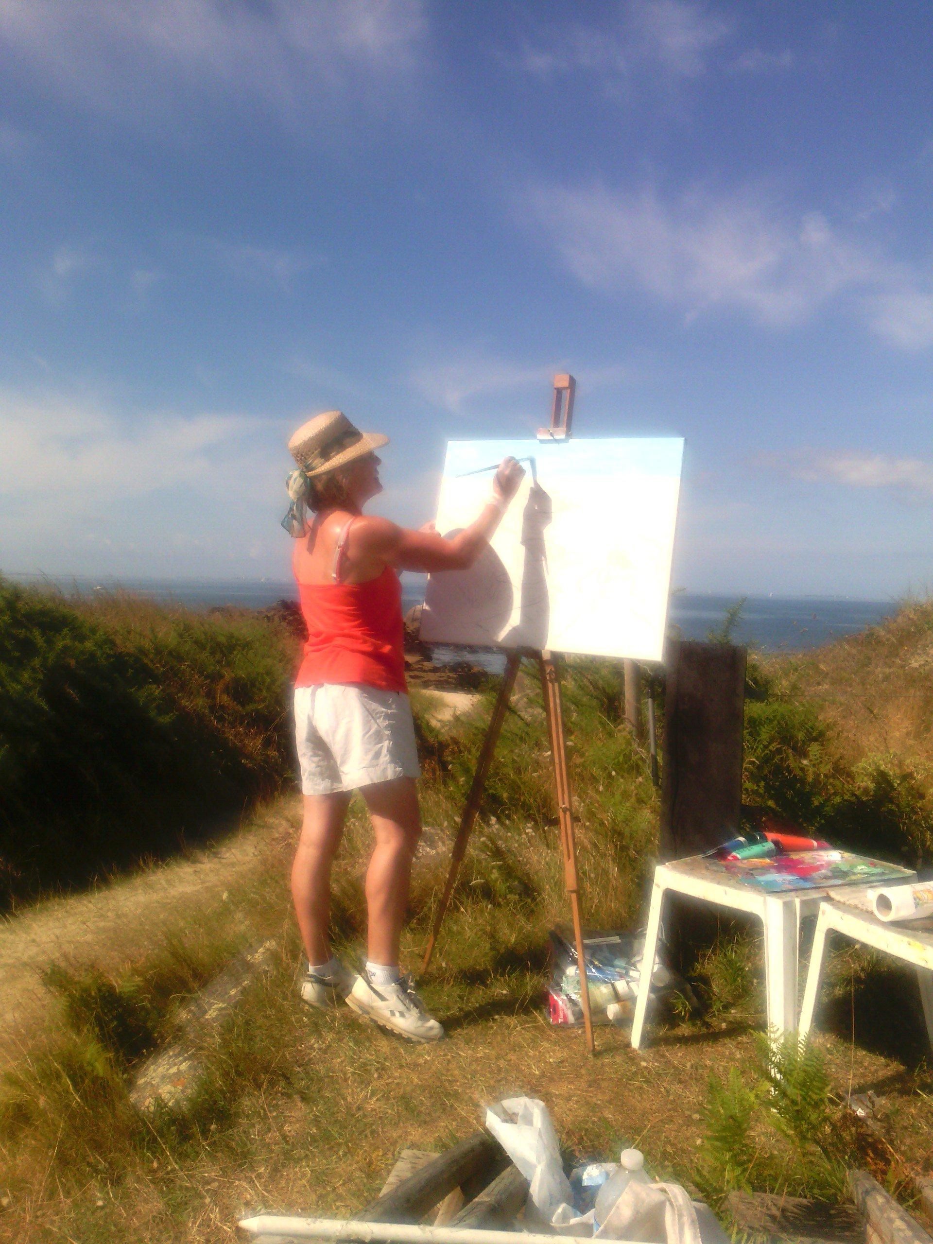 Image Stage peinture en atelier, alentours de pont-aven