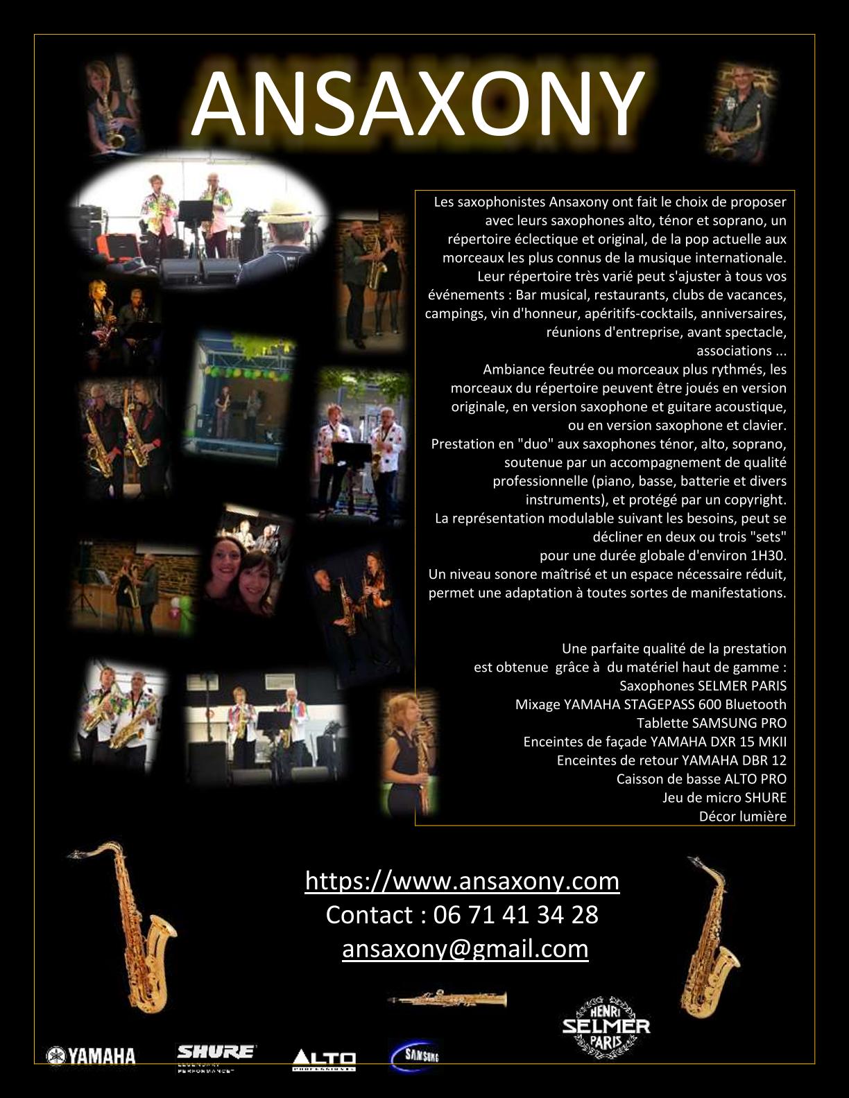 Image Ansaxony concert et animation musicale au saxophone