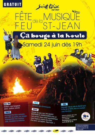 Ca bouge à la Houle-Fête de la Musique et feu de la Saint Jean Saint-Briac-sur-Mer