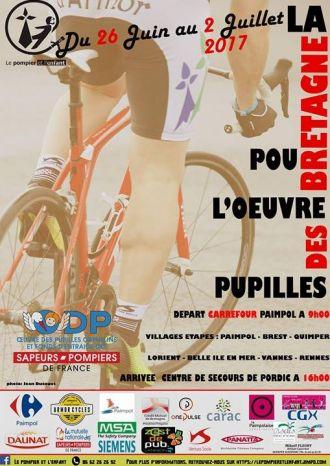 Tour de Bretagne à vélo - Le pompier et l'enfant Paimpol