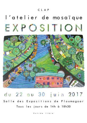 Exposition de l\atelier de mosaïque du Clap de Ploumagoar. Ploumagoar
