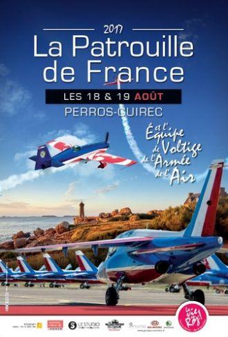 Spectacle aérien de la Patrouille de France et de Voltige de l\armée de l\air Perros-Guirec