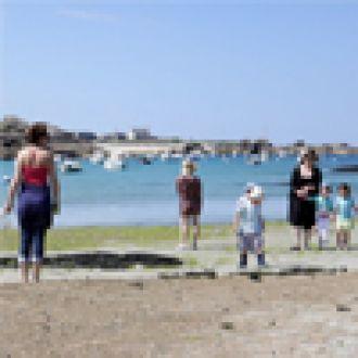 Sortie découverte de la plage à marée basse Trégastel