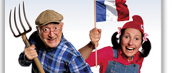 Pépette et papy à l\Elysée  Guy Montagné et Sylvie Raboutet QUESTEMBERT