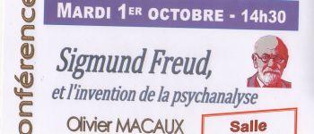 Conférence Université Tous Ages  Sigmund Freud et l\invention de la psychanalyse QUESTEMBERT