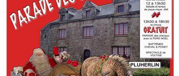 Parade des chevaux Curly avec le Père Noël PLUHERLIN