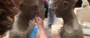 Sculpture modèle vivant sur terre ELVEN