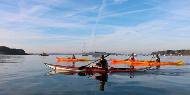 Semaine du Golfe en kayak de mer à Larmor Baden