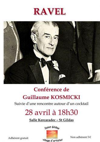 Conférence  Maurice Ravel  par Guillaume Kosmicki ST GILDAS DE RHUYS
