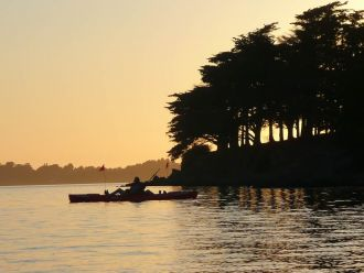 Coucher du Soleil sur le Golfe en Feet-Kayak SARZEAU