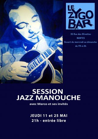 Session jazz manouche avec Marco Nantes