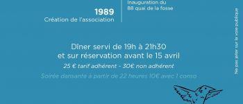 Dîner dansant anniversaire Mémoire Outre Mer Nantes