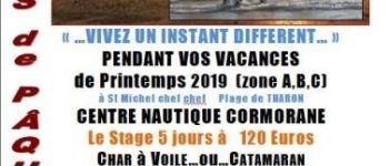 Stages catamaran te char à voile vacances de Pâques 2019 Saint-Michel-Chef-Chef