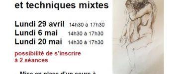 Dessin croquis avec modèle vivant, 3 dates Rennes