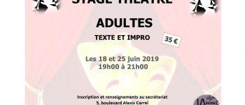 JA Rennes : stage découverte de théâtre adultes Rennes