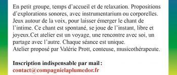 Atelier Son et Chant spontanés pour les femmes Nantes