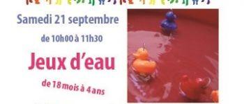 Jeux d'eau atelier parents-enfants de 18 mois à 4 ans Donges
