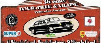 Tour d\Ille-et-Vilaine des véhicules anciens Saint-Méen-le-Grand