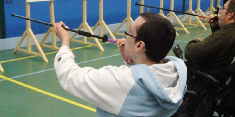 Compétition de sarbacane handisport