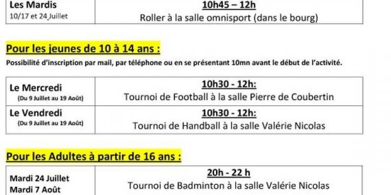 Activites Sportives Pendant Les Vacances D Ete Cancale 24 07 2018