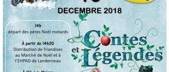 Pères Noël motards et Contes et légendes Landerneau