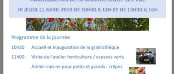 Inauguration de la Grainothèque de l\IME Quimperlé