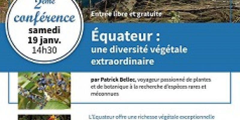 Conférence Équateur : une diversité végétale extraordinaire