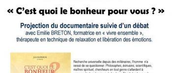Cinéma La Cane - Soirée spéciale \C\est quoi le bonheur pour vous\ Montfort-sur-Meu