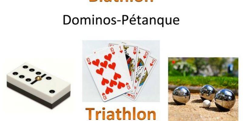 Biathlon, Triathlon et Repas