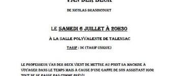 Théâtre Jeunes - La folle histoire du professeur Van Der Beck Talensac