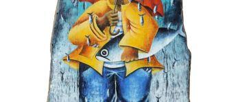 Exposition peintures sur laisses de mer Brigitte Sidaner Île-Tudy