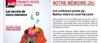 Les conférences France Inter : Les secrets de notre mémoire Guingamp
