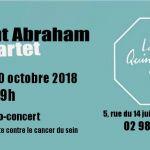 Apéro-concert de Clément Abraham Quartet au profit de la lutte contre le cancer du sein Audierne