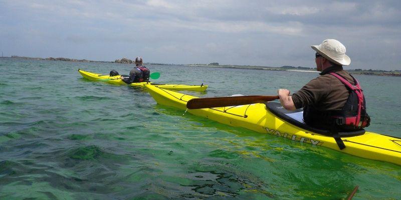 Sortie kayak de mer - Ile des Ebihens