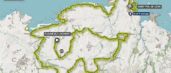 Départ de la dernière étape du Tour de Bretagne en vélo Plounévez-Lochrist