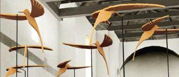 Visite de l\exposition \Nuée\ du centre d\art contemporain \Les 3Cha\ Châteaugiron