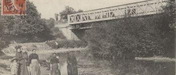 Déambulation de la maisonnette du garde-barrière au pont du chemin de fer qui enjambe la Seiche. Vern-sur-Seiche
