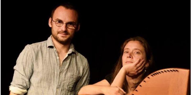 Concert de harpe et chant traditionnel breton avec eric menneteau et hoëla barbedette
