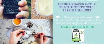 Atelier cosmétiques naturels : baume pour le corps et gommage café Plouaret