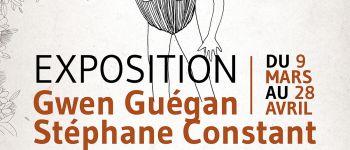 Exposition de sérigraphie et gravures par Stéphane Constant (Dezzig) et Gwen Guégan Jugon-Les-Lcas