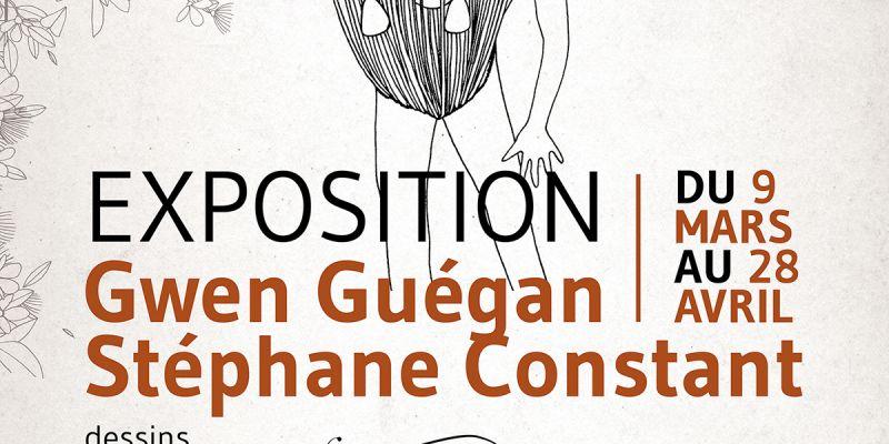 Exposition de sérigraphie et gravures par Stéphane Constant (Dezzig) et Gwen Guégan