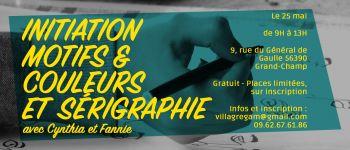 Initiation motifs et couleurs et sérigraphie Grand-champ