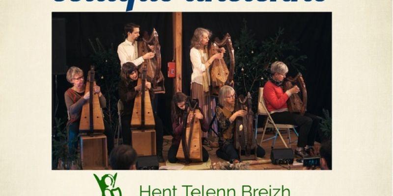 Concert de harpe celtique ancienne de lassociation Hent Telenn Breizh et de ses élèves