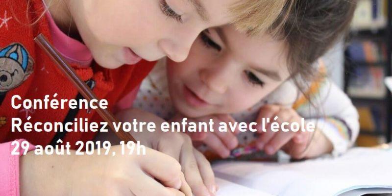 Conférence : Réconciliez votre enfant avec l'école