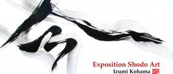 """Exposition """"Shodo Art"""" Calligraphie japonaise artistique Concarneau"""