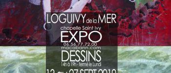 exposition dessins chapelle saint Ivy du 13 au 27 septembre 2019 loguivy de la mer