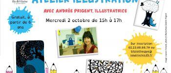 Atelier illustration avec Andrée Prigent Saulnières