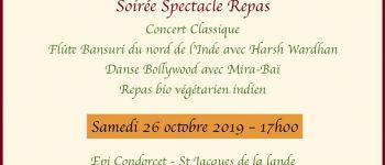 Diwali festival concert soirée spectacle repas vegetarien indien ,26 octobre 2019 St jacques de la lande