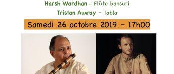 Concert classique de bansuri flûte avec harsh wardhan  St jacques de la lande